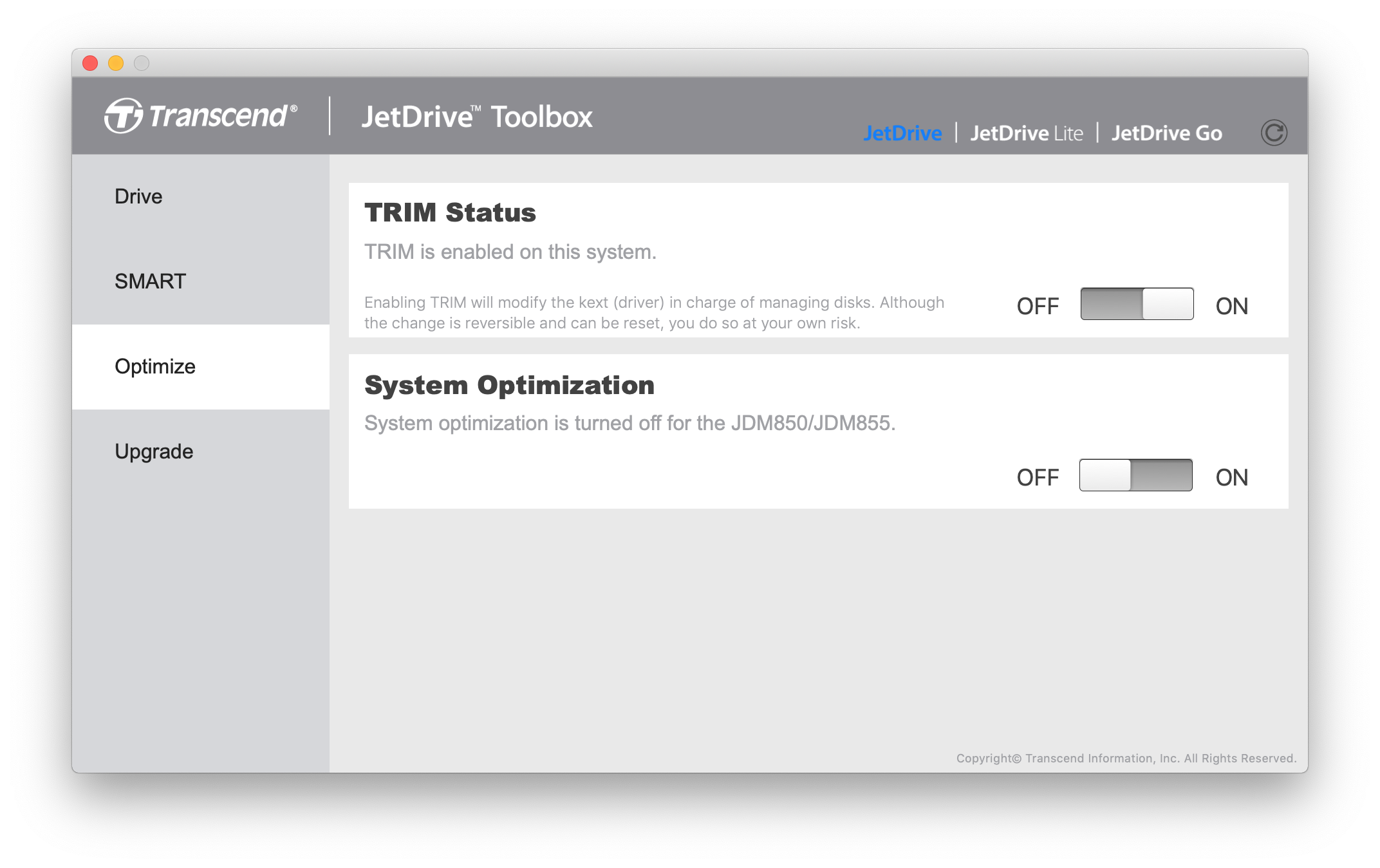 JetDrive Toolbox - Support & Download
